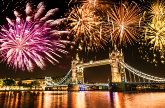 new year over the tower bridge